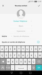 Huawei Nova - Contact, Appels, SMS/MMS - Ajouter un contact - Étape 6