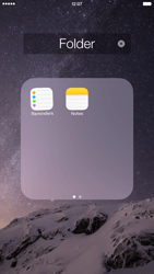 Apple iPhone 6 Plus - iOS 8 - Getting started - Personalising your Start screen - Step 7