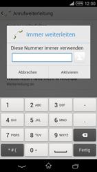 Sony Xperia T3 - Anrufe - Rufumleitungen setzen und löschen - 7 / 9