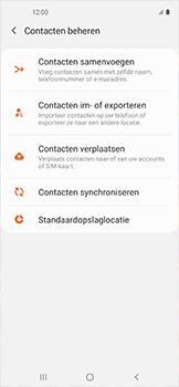 Samsung galaxy-xcover-pro-sm-g715fn - Contacten en data - Contacten kopiëren van toestel naar SIM - Stap 6