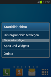 Samsung Galaxy Fame Lite - Startanleitung - Installieren von Widgets und Apps auf der Startseite - Schritt 4