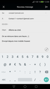 Huawei Mate S - E-mail - Envoi d