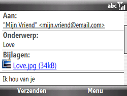 HTC S521 Snap - E-mail - E-mails verzenden - Stap 12