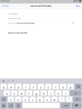 Apple ipad-pro-10-5-inch-ios-12 - E-mail - Bericht met attachment versturen - Stap 7
