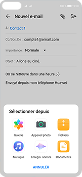 Huawei P40 - E-mails - Envoyer un e-mail - Étape 10
