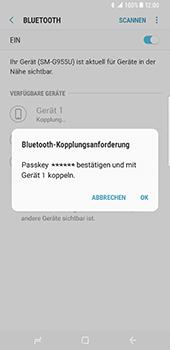 Samsung Galaxy S8 Plus - Bluetooth - Verbinden von Geräten - Schritt 8