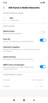 Xiaomi RedMi Note 7 - Internet und Datenroaming - Prüfen, ob Datenkonnektivität aktiviert ist - Schritt 4