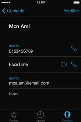Apple iPhone 4S - Contact, Appels, SMS/MMS - Utiliser la visio - Étape 5