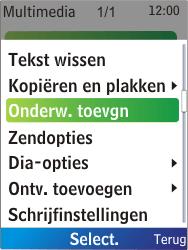 Nokia X2-00 - MMS - Afbeeldingen verzenden - Stap 11