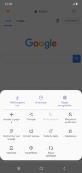 Samsung Galaxy Note 10+ - Internet et connexion - Naviguer sur internet - Étape 20