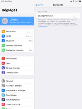 Apple iPad Air 2 - iPadOS 13 - Données - créer une sauvegarde avec votre compte - Étape 11