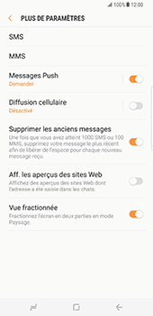 Samsung Galaxy S8 Plus - SMS - Configuration manuelle - Étape 7