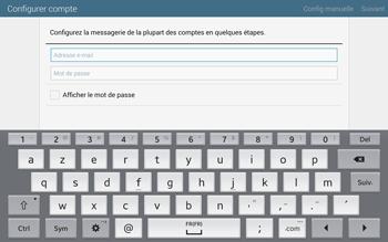 Samsung T805 Galaxy Tab S - E-mail - configuration manuelle - Étape 5