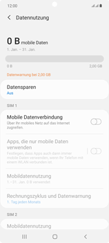 Samsung Galaxy Note 20 5G - Internet und Datenroaming - Prüfen, ob Datenkonnektivität aktiviert ist - Schritt 6