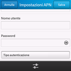 BlackBerry Q10 - Internet e roaming dati - Configurazione manuale - Fase 9