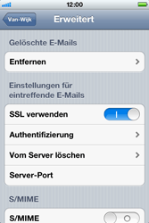 Apple iPhone 4 - E-Mail - Konto einrichten - Schritt 18