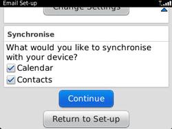 BlackBerry 9320 Curve - E-mail - Manual configuration - Step 10