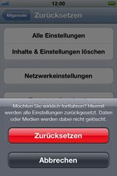 Apple iPhone 3GS - Fehlerbehebung - Handy zurücksetzen - 9 / 10