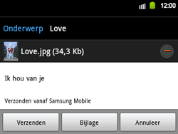 Samsung B5510 Galaxy TXT - E-mail - hoe te versturen - Stap 13
