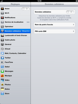 Apple iPad 4th generation - Internet - activer ou désactiver - Étape 5