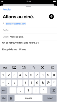 Apple iPhone 8 Plus - iOS 13 - E-mail - envoyer un e-mail - Étape 7