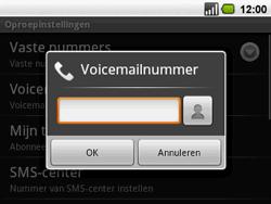 Acer BeTouch E130 - Voicemail - handmatig instellen - Stap 6