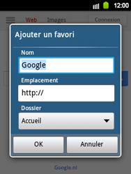 Samsung Galaxy Y - Internet et roaming de données - Navigation sur Internet - Étape 6