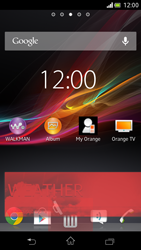 Sony Xperia V - Getting started - Installing widgets and applications on your start screen - Step 7
