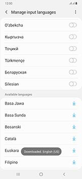 Samsung Galaxy A50 - Getting started - How to add a keyboard language - Step 13
