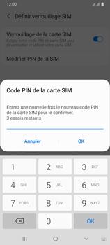 Samsung Galaxy A31 - Sécuriser votre mobile - Personnaliser le code PIN de votre carte SIM - Étape 11
