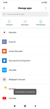 Xiaomi RedMi Note 7 - Applications - How to uninstall an app - Step 7