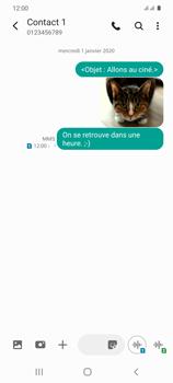 Samsung Galaxy S20 - Contact, Appels, SMS/MMS - Envoyer un MMS - Étape 22