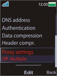 Sony W595 - Internet - Manual configuration - Step 13