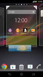 Sony Xperia V - Getting started - Installing widgets and applications on your start screen - Step 5