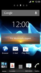 Sony Xperia J - Startanleitung - Installieren von Widgets und Apps auf der Startseite - Schritt 6