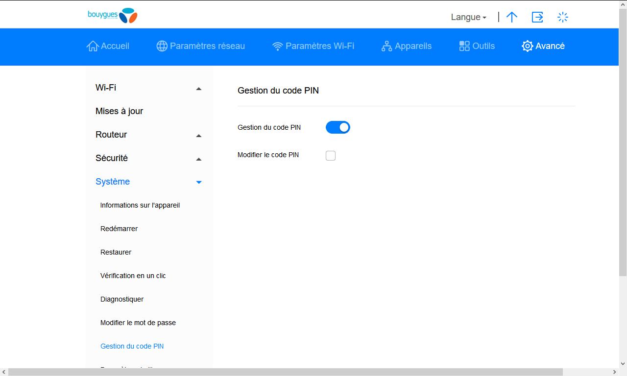 Huawei B628 - Sécuriser votre mobile - Personnaliser le code PIN - Étape 5