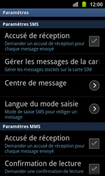 Samsung I8530 Galaxy Beam - SMS - Configuration manuelle - Étape 4