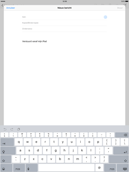 Apple iPad Pro - E-mail - E-mail versturen - Stap 4