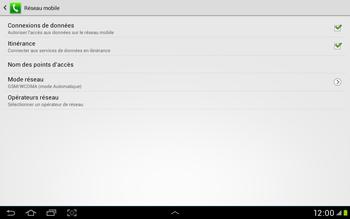 Samsung Galaxy Tab 2 10.1 - Internet et roaming de données - Désactivation du roaming de données - Étape 6