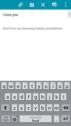 Samsung G850F Galaxy Alpha - E-mail - Sending emails - Step 17