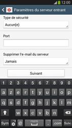 Samsung Galaxy S 4 LTE - E-mail - configuration manuelle - Étape 10