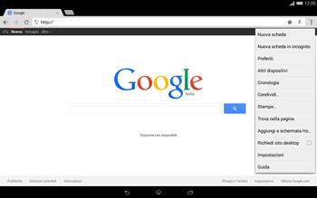 Sony Xperia Tablet Z2 LTE - Internet e roaming dati - Uso di Internet - Fase 13