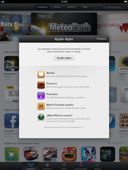Apple iPad mini - Apps - Konto anlegen und einrichten - 3 / 21