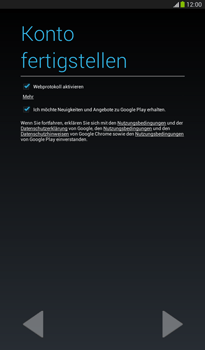 Samsung Galaxy Tab 3 7-0 - Apps - Konto anlegen und einrichten - 1 / 1