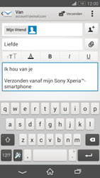 Sony D5803 Xperia Z3 Compact - E-mail - Bericht met attachment versturen - Stap 10