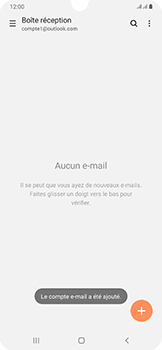 Samsung Galaxy A50 - E-mail - 032c. Email wizard - Outlook - Étape 11