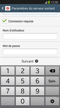 Samsung N9005 Galaxy Note III LTE - E-mail - Configuration manuelle - Étape 13