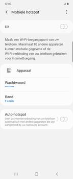 Samsung Galaxy Z Flip Single-SIM + eSIM (SM-F700F) - WiFi - Mobiele hotspot instellen - Stap 11