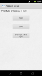 Sony Xperia T - E-mail - Manual configuration - Step 7