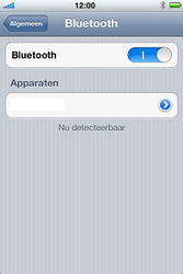 Apple iPhone 3G S met iOS 5 - bluetooth - headset, carkit verbinding - stap 6
